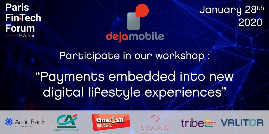 dejamobile au Paris Fintech Forum